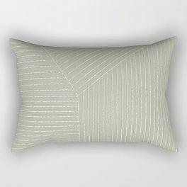 Lines (Linen Sage) Rectangular Pillow