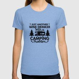 Wine Drinker Camping T-shirt
