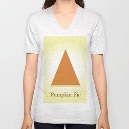 Pumpkin pie! By Angelica Ramos Unisex V-Neck