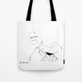 let's go find food together Tote Bag