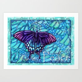 Butterfly Peace Art Print