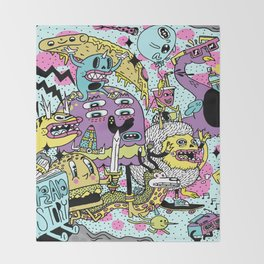 The Adventures of Rad Story Throw Blanket