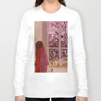 snow Long Sleeve T-shirts featuring snow by Lara Paulussen