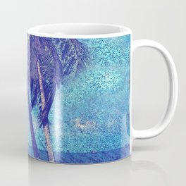 Stormy day at the beach Palm trees Coffee Mug