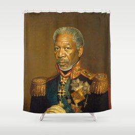 Morgan Freeman - replaceface Shower Curtain