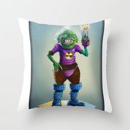 Intergalactic Fashion Police Throw Pillow