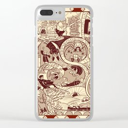 HP Inspired Chamber of Secrets Clear iPhone Case
