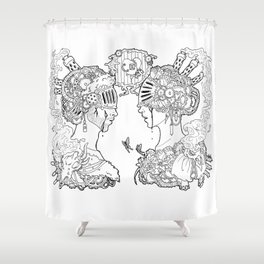 love and other comodities Shower Curtain