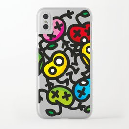 apple color crazy Clear iPhone Case