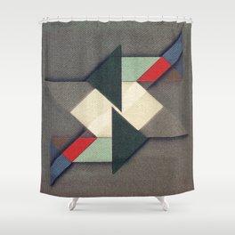 La Réunion Geometrique Shower Curtain