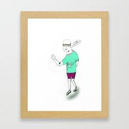 Billy No Mates Framed Art Print