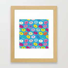 Donuts In The Sky By Everett Co Framed Art Print