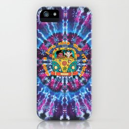 Hippie bus ty-dyed iPhone Case