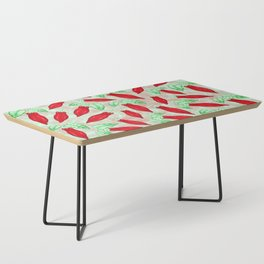 Red Hot Chilli Pepper Decorative Food Art Coffee Table