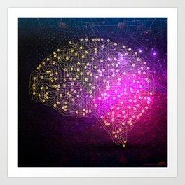 Your Brain on Bitcoins Art Print