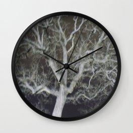 Ghostly Tree Wall Clock
