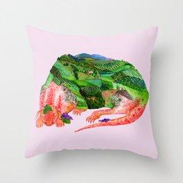 Chianti Landscape Dragon Throw Pillow