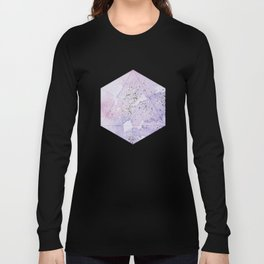 Pastel Glitter Watercolor Painting Long Sleeve T-shirt