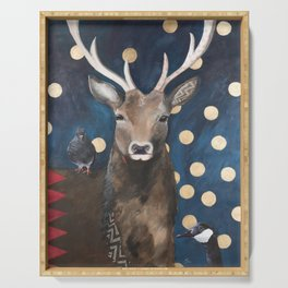Stag with Tubbs and Goose Serving Tray