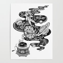 Space Music Poster