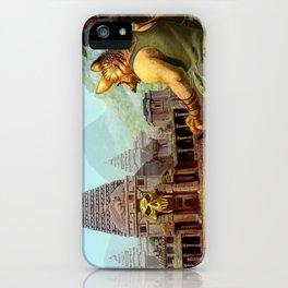 Monkey temple iPhone Case