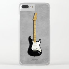 Stratocaster Blackie 1977 Clear iPhone Case