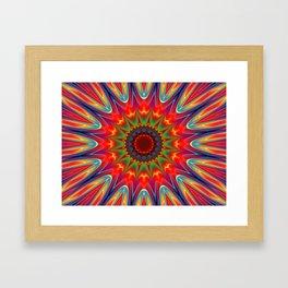 Colors kaleidoscope pattern Framed Art Print