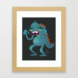 Sick Monster Framed Art Print