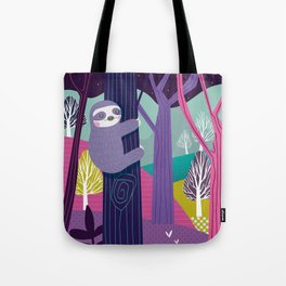 Sloth in the woods Tote Bag