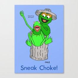 Muppets Sneak Choke Canvas Print