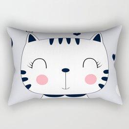 CAT CARTOON WITH HEART Rectangular Pillow