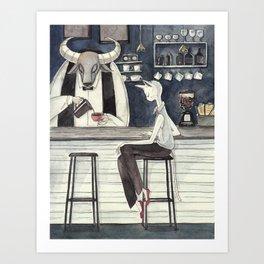 the night bar Art Print