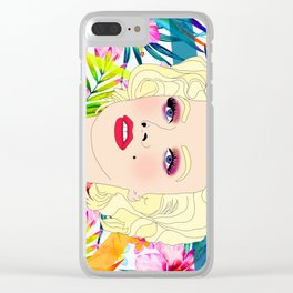 Pou-pou-pi-dou (Marilyn) Clear iPhone Case