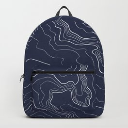 Navy topography map Backpack