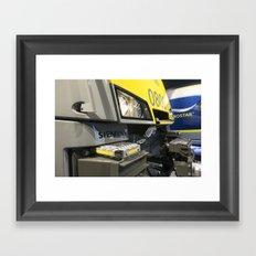 Electric Profile Framed Art Print