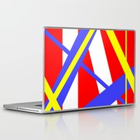 bands Laptop & iPad Skins featuring Bands 2 retro stripes by Brian Raggatt