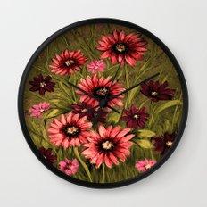 Flowers 3 Wall Clock