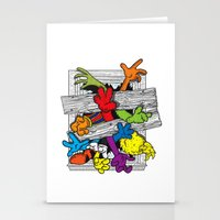 cartoons Stationery Cards featuring Cartoons Attack by luis pippi