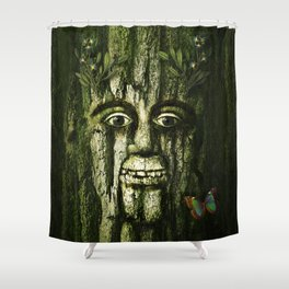 The Tremendous Mr. Treebley Shower Curtain