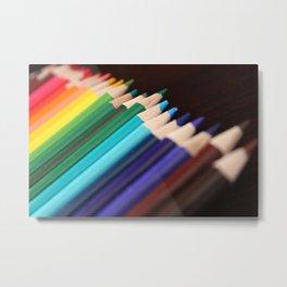 Colored Pencils 3 Metal Print