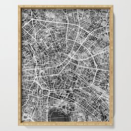 Berlin Germany City Map Serving Tray