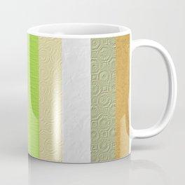 Vintage embossed paper stripes collage Coffee Mug