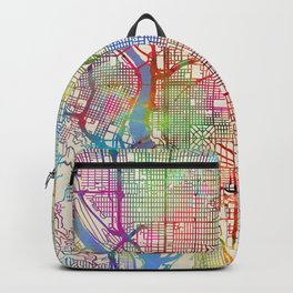 Portland Oregon City Map Backpack