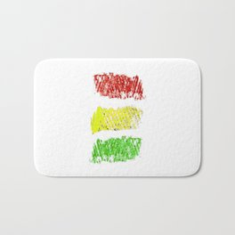 flag of bolivia 4 - Chalk version Bath Mat