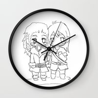 "fili Wall Clocks featuring Fili & Kili "" the hobbit"" by Selis Starlight"