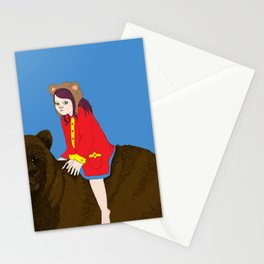 Bear Girl Stationery Cards
