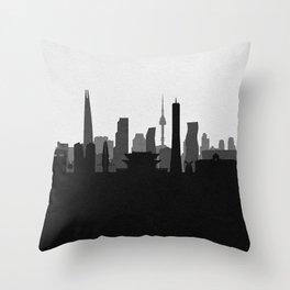 City Skylines: Seoul Throw Pillow