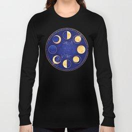 Celestial Atlas :: Lunar Phases Long Sleeve T-shirt