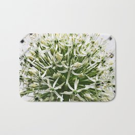 457 - White Flower Bath Mat