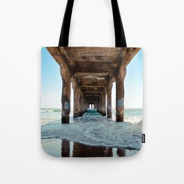 Manhattan Beach Pier Tote Bag
